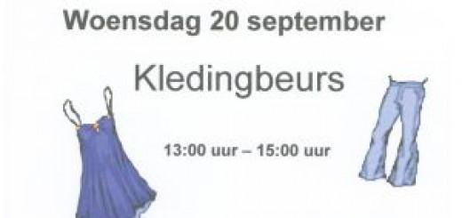 """Kledingbeurs in """"De Middelburgt"""""""