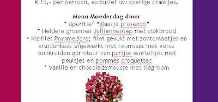 Moederdagdiner in restaurant Zuiderkroon