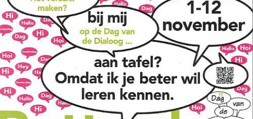 Dag van de Dialoog met 2 tafels in Pendrecht