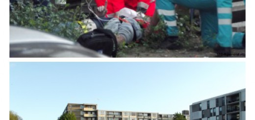 Traumaheli ingezet bij val van man in Middelharnisstraat