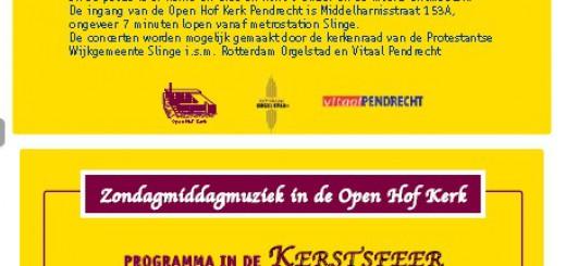 Zondagmiddagmuziek in de Open Hofkerk